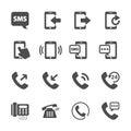 Phone device communication icon set, vector eps10 Royalty Free Stock Photo