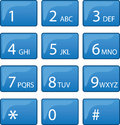 Phone Dial Pad Stock Photography
