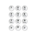 Phone dialer grey art illustration on a white background Stock Images