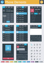 Phone elements set of the simple personal dialer interface icons and Stock Images
