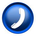 Phone icon button Royalty Free Stock Photo
