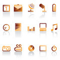 Phone icon performance Royalty Free Stock Photo