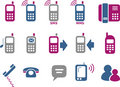 Phone icon set Royalty Free Stock Photography
