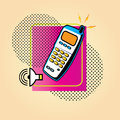 Phone icon telephone receiver illustration Royalty Free Stock Images