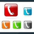Phone icons Royalty Free Stock Photo