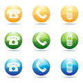 Phone icons Stock Images