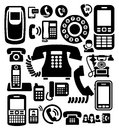 Phone icons Royalty Free Stock Photography