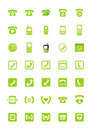 Phone icons Royalty Free Stock Images