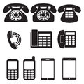 Phone icons this is file of eps format Royalty Free Stock Photography