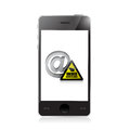 Phone. internet surveillance illustration