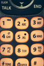 Phone key pad close up lit numbers on a telephone keypad Royalty Free Stock Photos