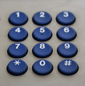 Phone keypad numbers Royalty Free Stock Photo