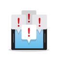 Phone Multiple Notifications Royalty Free Stock Photo