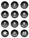 Phone number key pad Royalty Free Stock Photo