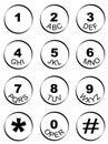Phone number key pad Royalty Free Stock Photo