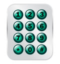 Phone number key pad on semitransparent panel Stock Images