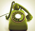 Phone old green retro toned image Royalty Free Stock Photo