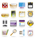 Phone  performance, internet and office icons Stock Images