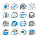 Phone  Performance, Internet and Office Icons Royalty Free Stock Photos