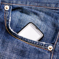 Phone in pocket Stock Photos