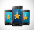 Phone review concept illustration design over a white background Royalty Free Stock Image