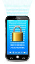 Phone security concept lock data with system Royalty Free Stock Photo