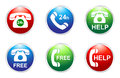 Phone services buttons free and help h Royalty Free Stock Photography