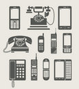 Phone set simple icon Royalty Free Stock Image