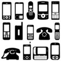 Phone set vector Royalty Free Stock Image