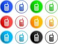 Phone sign icons Royalty Free Stock Photo