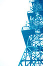 Phone signal tower Stock Image