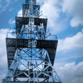 Phone signal tower technology wireless cell isolated Royalty Free Stock Photo