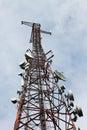 Phone signal transmitter tower Royalty Free Stock Photo