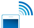 Phone signal on white background illustration Royalty Free Stock Images