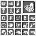 Phone squared buttons illustration of different Royalty Free Stock Photo