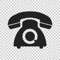Phone vector icon. Old vintage telephone symbol illustration Royalty Free Stock Photo