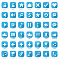Phone web internet blue icon set collection Stock Images