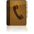Phonebook icon glossy illustration of a leather bound Stock Photo