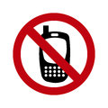 Phones banned over white background vector illustration Royalty Free Stock Photo