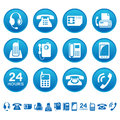 Phones and fax icons set of Stock Photos