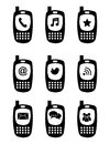 Phones icons over white background vector illustration Stock Photo