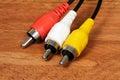 Phono plugs. Royalty Free Stock Photo