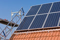 Phorovoltaic mounting photovoltaic on a roof Royalty Free Stock Images