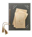 Photo album page with retro style picture frames Royalty Free Stock Photo