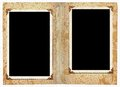 Photo album two frames in a for your next project Royalty Free Stock Photos