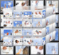 Photo assortment in designing technollogy Royalty Free Stock Photography
