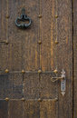 Photo beautiful antique wooden door close up Royalty Free Stock Photos