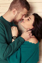 Photo of beautiful tender couple in casual clothes Royalty Free Stock Photo