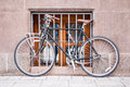 Photo of bicycle at window Royalty Free Stock Photo