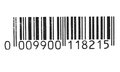 Photo black barcode, tag for products isolated on white background Royalty Free Stock Photo